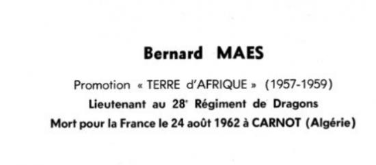 Lieutenant bernard maes 28eme dragons 479 ufo